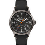 Timex Expedition Metal Scout - Black Leather\/Black Dial
