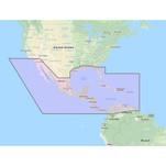 Furuno Central America, Caribbean  Part of Mexico Vector Chart - 3D Data  Standard Resolution Satellite Photos - Unlock Code