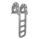 Dock Edge Flip-Up Polyethylene Roto Molded 4-Step Dock Ladder - Grey