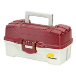 Plano 1-Tray Tackle Box w\/Dual Top Access - Red Metallic\/Off White