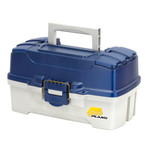 Plano 2-Tray Tackle Box w\/Dual Top Access - Blue Metallic\/Off White