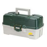 Plano 3-Tray Tackle Box w\/Dual Top Access - Dark Green Metallic\/Off White