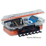 Plano Waterproof Polycarbonate Storage Box - 3500 Size - Orange\/Clear