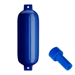 "Polyform G-5 Twin Eye Fender 8.8"" x 26.8"" - Cobalt Blue w\/Air Adapter"
