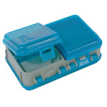 Plano Double-Sided Adjustable Tackle Organizer Small - Silver\/Blue