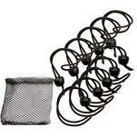 "Whitecap Jaw Bungee - 12"" Elastic Cord w\/1"" Jaw Ball - 10-Pack"
