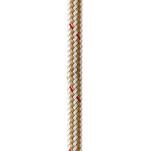 "New England Ropes 3\/4"" x 35 Nylon Double Braid Dock Line - White\/Gold w\/Tracer"
