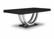 Contempo Metal Curve Pedestal Dining Table New