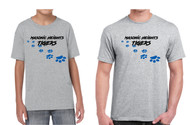 Adult & Youth Gildan® Heavy Cotton T-shirt Tigers Logo ( See Size Chart)