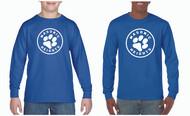 Gildan® Adult & Youth Long Sleeve T-Shirt Circle Logo (See Size Chart)