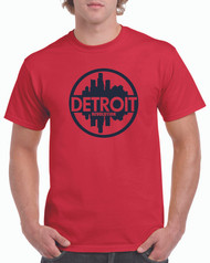 Red T-Shirt w/ Navy Ink
