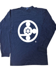 Meal On Wheels Washed Navy Long Sleeve T-Shirt