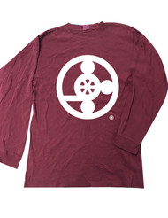 Meals On Wheels Washed Maroon Long Sleeve T-Shirt