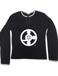 Meals On Wheels Lace Up Long Sleeve  THEY RUN SMALLER THAN NORMAL....(SCROLL TO SEE SIZE CHART)