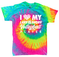 I Heart my LS Volleyball Player Colortone Pigment Dyed T-Shirt