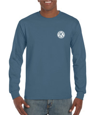 .Gildan Heavy Cotton Adult Long Sleeve T-Shirt with Left Chest & Full Back Screen Printed Logo