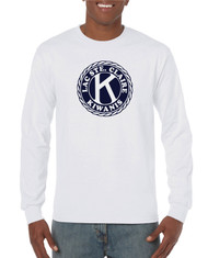Gildan Heavy Cotton Adult Long Sleeve T-Shirt with Full Front Screen Printed Logo