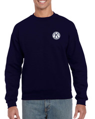 *Gildan Heavy Blend Adult Crewneck Sweatshirt with Left Chest Embroidered Logo