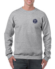 .Gildan Heavy Blend Adult Crewneck Sweatshirt with Left Chest & Full Back Screen Printed Logo