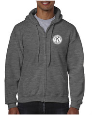 *Gildan Heavy Blend Full Zip Hooded Sweatshirt with Left Chest Embroidered Logo