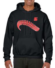 LS Baseball Gildan Heavy Blend Adult Hooded Sweatshirt