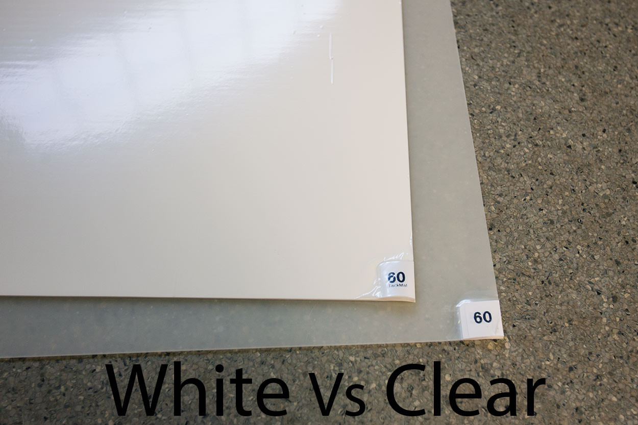 TackMat Clear Pads vs White pads
