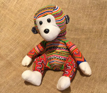 Hmong Cloth Handmade Stuffed Monkey from Vietnam