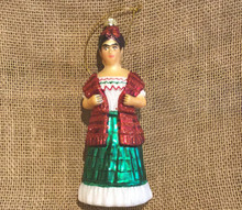 Frida Kahlo Handblown Glass Christmas Ornament