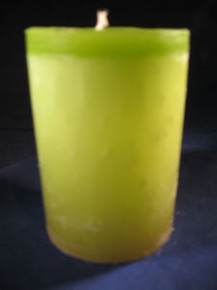 "Handmade Lemongrass Scented 3"" Dia. By 4"" Tall Candle"