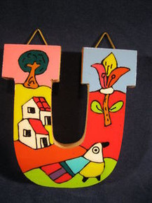 Handmade the Letter U from La Palma, El Salvador