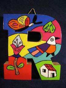 Handmade the Letter R from La Palma, El Salvador