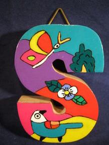 Handmade the Letter S from La Palma, El Salvador