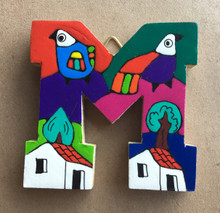 Handmade the Letter M from La Palma, El Salvador
