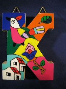 Handmade the Letter K from La Palma, El Salvador