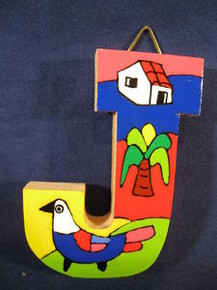 Handmade the Letter J from La Palma, El Salvador