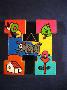 Handmade the Letter H from La Palma, El Salvador