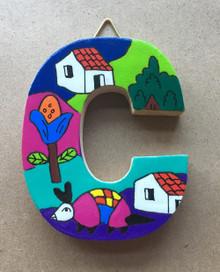 Handmade the Letter C from La Palma, El Salvador