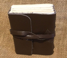 "Journal Handmade Acid Free Recycled Paper Leather with Strap Close 4"" by 3 1/2"""