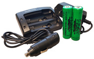 Wicked Lights 2-position charger kit with 2 18650 Li-Ion Batteries