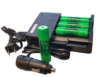 Wicked Lights 4-position charger with 4 Li-Ion Rechargeable Batteries