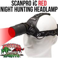Wicked Lights ScanPro iC Red night Hunting Headlamp Kit Thumbnail