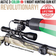 Wicked Lights A67iC 3-Color-In-1Night Hunting Gun Light Kit thumbnail