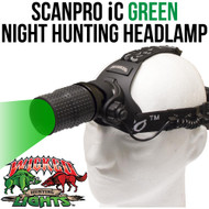 Wicked Lights ScanPro iC Green night Hunting Headlamp thumbnail