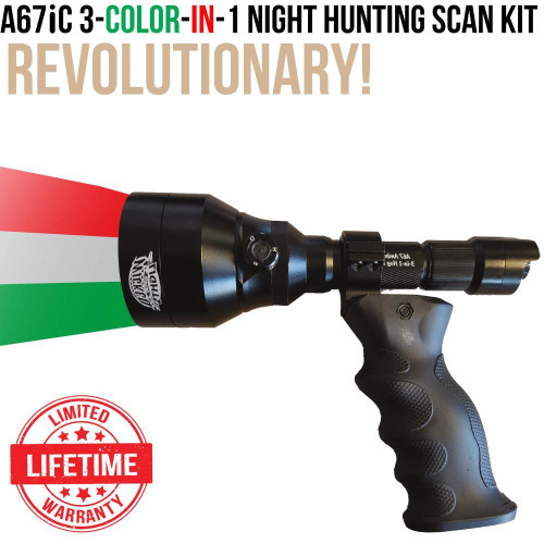 Wicked Lights A67iC 3-Color-In-1 Ergo Scan Night Hunting Light Kit thumbnail