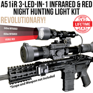 Wicked Lights A51iR 3-LED-In-1 Infrared and Red night hunting light illuminator for night vision thumbnail