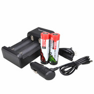 Wicked Lights 21700 2-position charger kit with 2-pack  Li-Ion Rechargeable Batteries