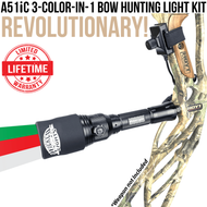 Wicked Lights A51iC 3-Color-In-1 Bow Hunting Light for Coyotes, Predators, Hogs, and Bow Fishing thumbnail
