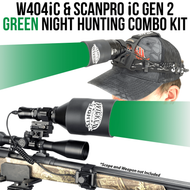 Wicked Lights W404iC and ScanPro iC Gen 2 Green Night Hunting Light and Headlamp Combo Pack thumbnail