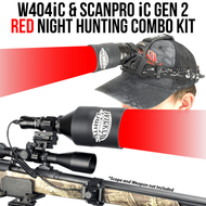 Wicked Lights W404iC and ScanPro iC Gen 2 Red Night Hunting Light and Headlamp Combo Pack