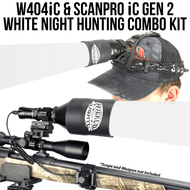 Wicked Lights W404iC and ScanPro iC Gen 2 White Night Hunting Light and Headlamp Combo Pack